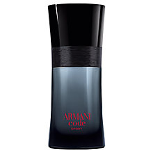 Buy Giorgio Armani Pour Homme Sport Code Eau de Toilette, 75ml with Luxury Beauty Crackers Online at johnlewis.com
