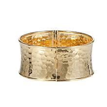 Buy Etrusca 18ct Gold Plated Bronze Hammered Hinged Bangle Online at johnlewis.com
