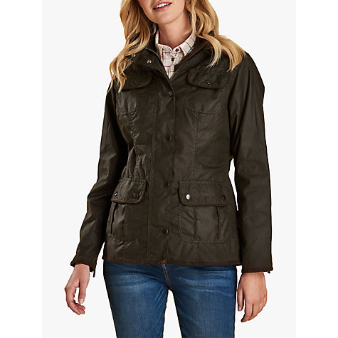 Buy Barbour Utility Waxed Jacket, Olive Online at johnlewis.com