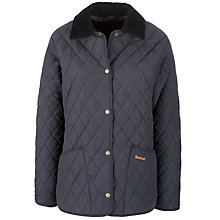 Buy Barbour Eksdale Quilted Jacket, Navy Online at johnlewis.com