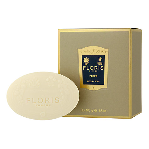 Buy Floris Fleur Luxury Soap Set, 3 x 100g Online at johnlewis.com