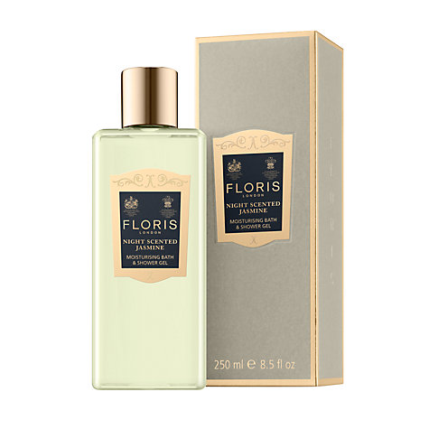 Buy Floris Night Scented Jasmine Moisturising Bath and Shower Gel, 250ml Online at johnlewis.com