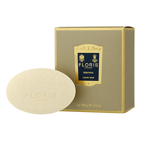 Buy Floris Seringa Luxury Soap Set, 3 x 100g Online at johnlewis.com