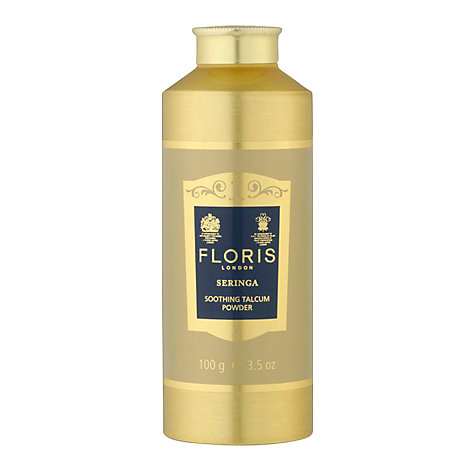 Buy Floris Seringa Soothing Talc with Aloe Vera, 100g Online at johnlewis.com
