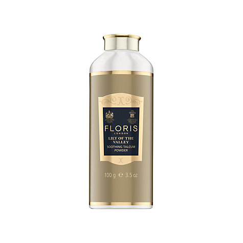 Buy Floris Lily of the Valley Soothing Talc with Aloe Vera, 100g Online at johnlewis.com