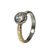 Buy Etrusca 18ct Gold Plated Bronze Solitaire Ring Online at johnlewis.com