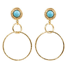 Buy Etrusca 18ct Gold Plated Stud Hoop Earrings Online at johnlewis.com