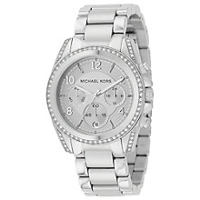 Buy Michael Kors MK5165 Women's Blair Chronograph Stainless Steel Bracelet Strap Watch,Silver Online at johnlewis.com