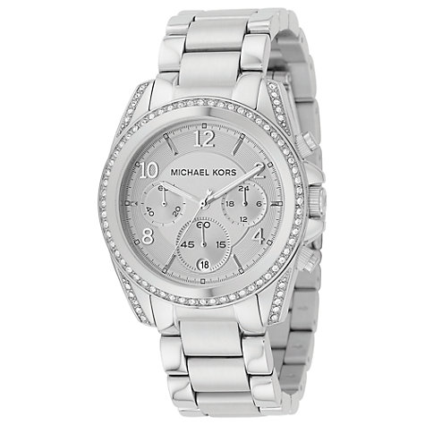 Buy Michael Kors MK5165 Women's Chronograph Stainless Steel Bracelet Watch Online at johnlewis.com