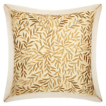 Buy John Lewis Lana Leaves Cushion, Gold Online at johnlewis.com