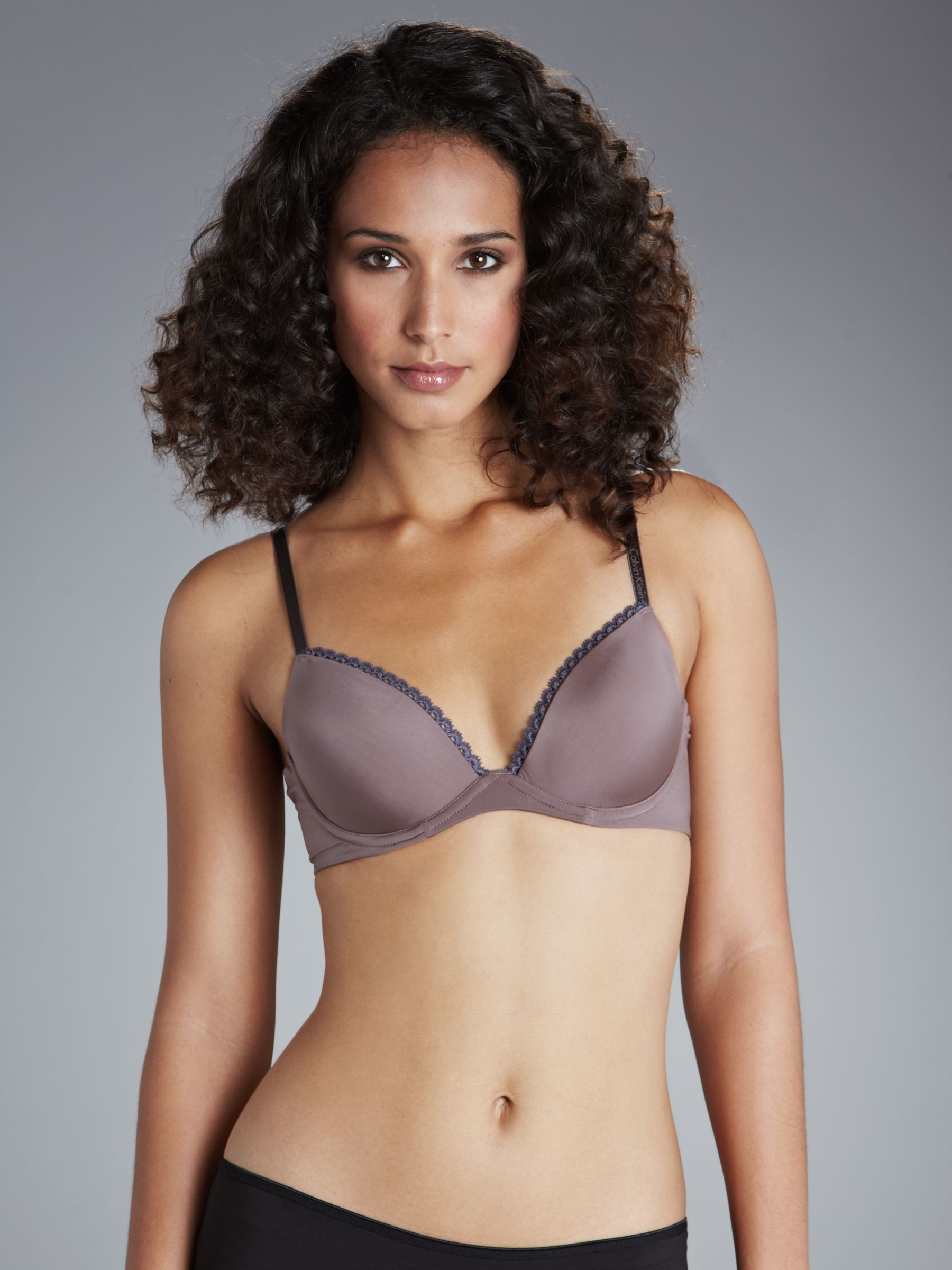 Calvin Klein Seductive Comfort Smooth Lift T-Shirt Bra, Smoke