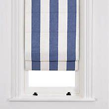 Buy John Lewis Wide Stripe Roman Blinds, Navy / White Online at johnlewis.com