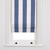 John Lewis Wide Stripe Roman Blinds, Navy / White