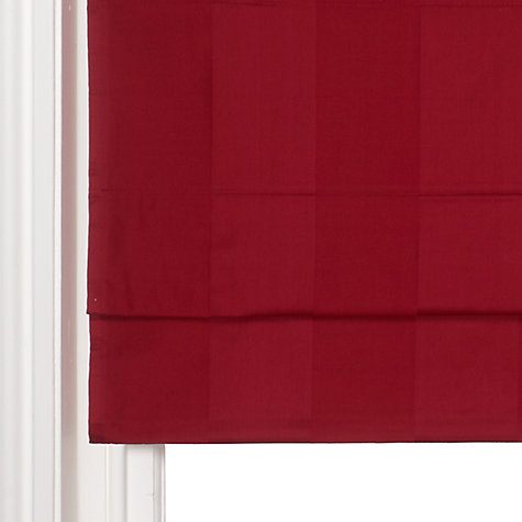 Buy John Lewis Self Stripe Roman Blinds, Red Online at johnlewis.com