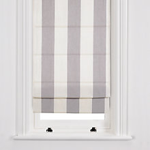 Buy John Lewis Stripe Roman Blinds, Grey / Oyster Online at johnlewis.com