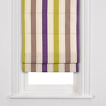 Buy John Lewis Hotel Stripe Roman Blinds, Purple Online at johnlewis.com