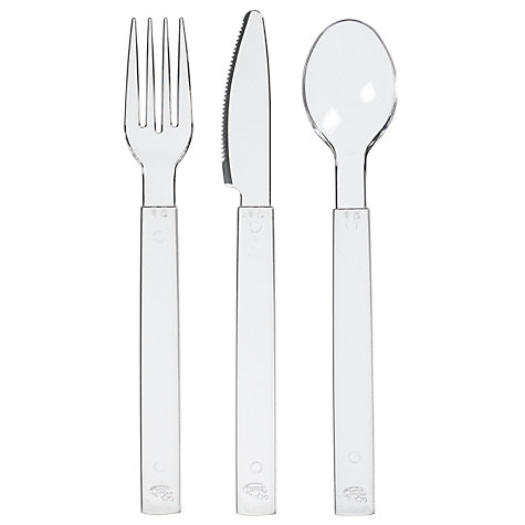 Buy Duni Clear Cutlery, 18 Piece Online at johnlewis.com