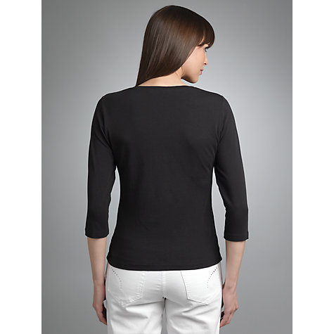 Buy Betty Barclay 3/4 Sleeve T-shirt, Black Online at johnlewis.com
