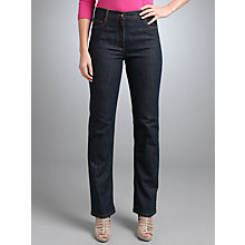 Buy Betty Barclay Straight Leg Jeans, Dark blue Online at johnlewis.com