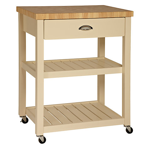 Buy John Lewis Cotswold Butcher's Trolley, Cream Online at johnlewis.com