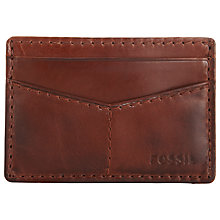 Buy Fossil Portage Card Holder, Brown Online at johnlewis.com
