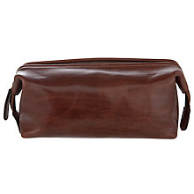 Buy John Lewis Made in Italy Leather Wash Bag, Brown Online at johnlewis.com
