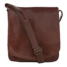 Buy John Lewis Leather Messenger Bag Online at johnlewis.com