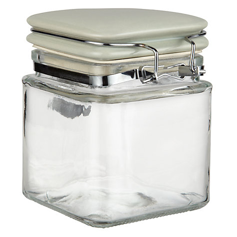 Buy Garden Trading Square Glass Storage Jars Online at johnlewis.com