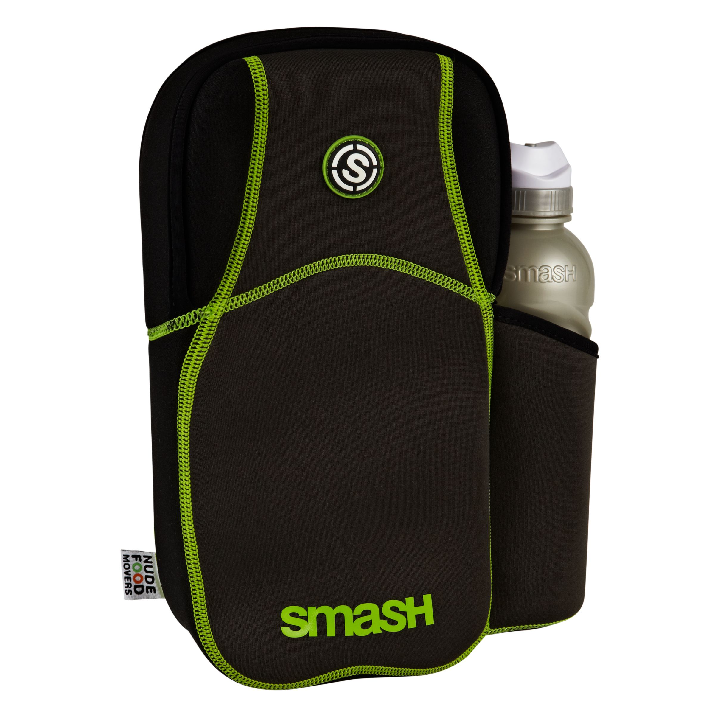 Nude Food Movers Rubbish Free Lunch Box and Skin, Black/Green