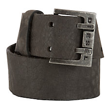 Buy Diesel Twodentin Leather Belt Online at johnlewis.com