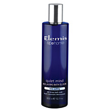 Buy Elemis Quiet Mind Relaxing Bath Elixir, 300ml Online at johnlewis.com
