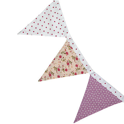 Buy little home at John Lewis Little Blossoms Bunting Online at johnlewis.com