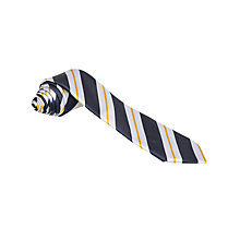 Buy Reading School Boys' Prefect Tie, Navy/Silver Online at johnlewis.com