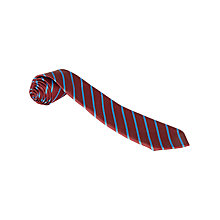 "Buy School Unisex School Tie, Maroon/Blue, L39"" Online at johnlewis.com"