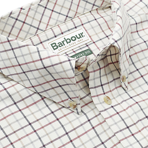 Buy Barbour Scotland Loose Check Shirt, Red Online at johnlewis.com