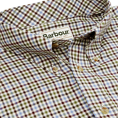 Buy Barbour Comfort Fit Scotland Check Shirt, Brown Online at johnlewis.com