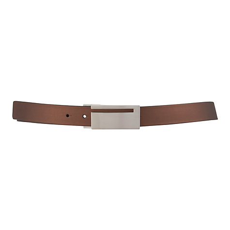 Buy John Lewis Reversible Metal Plaque Leather Belt Online at johnlewis.com