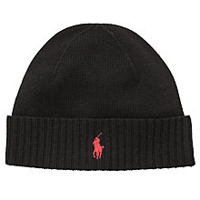 Buy Polo Ralph Lauren Merino Wool Beanie Hat Online at johnlewis.com