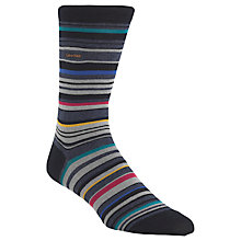 Buy Calvin Klein Barcode Socks, Navy, One size Online at johnlewis.com