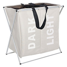 Buy Wenko Laundry Bin Duo, Beige Online at johnlewis.com