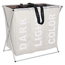 Buy Wenko Laundry Bin Trio, Beige Online at johnlewis.com