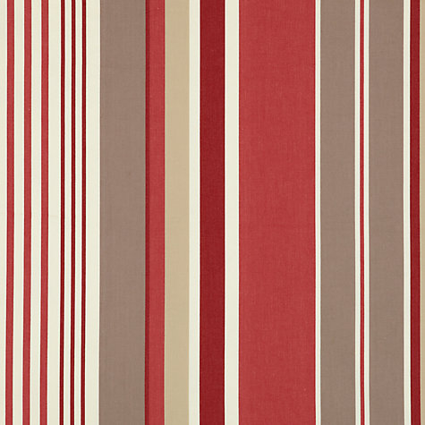 Buy John Lewis Multi Stripe Fabric, Claret Online at johnlewis.com