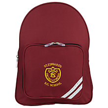 Buy St Edwards RC Primary School Unisex Backpack, Maroon Online at johnlewis.com