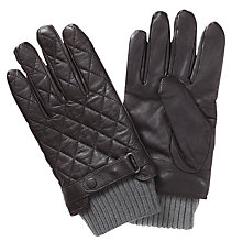 Buy Barbour Quilted Leather Gloves Online at johnlewis.com