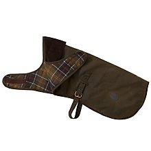 Buy Barbour Wax Cotton Tartan Lining Dog Coat Online at johnlewis.com