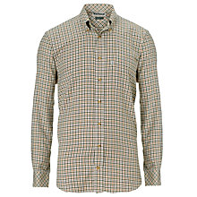 Buy Barbour Comfort Fit Scotland Check Shirt, Olive Online at johnlewis.com