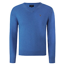 Buy Gant Lambswool V-Neck Jumper Online at johnlewis.com