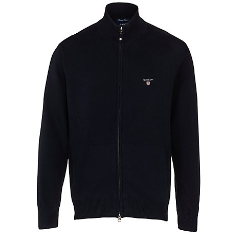Buy Gant Full Zip Cotton Cardigan Online at johnlewis.com