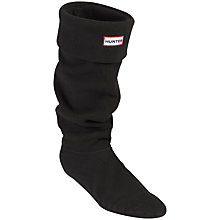 Buy Hunter Fleece Welly Socks, Black Online at johnlewis.com
