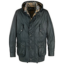 Buy Barbour Derwent Waxed Jacket, Navy Online at johnlewis.com